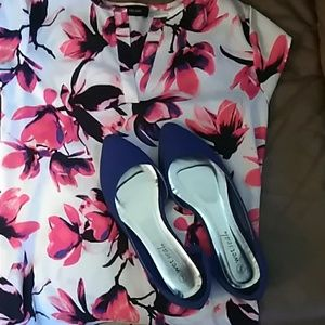 Wet Seal Indigo Blue Flats Size 7